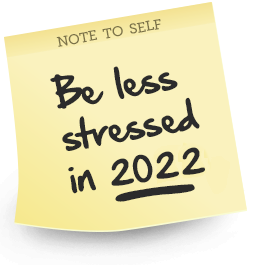 Further Info. Feel Less Stressed 2018